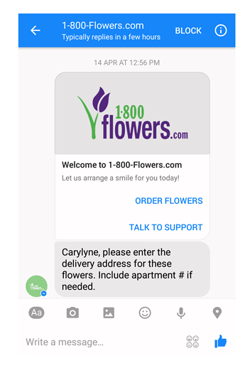 Are you planning to stalk me, 1800Flowers?